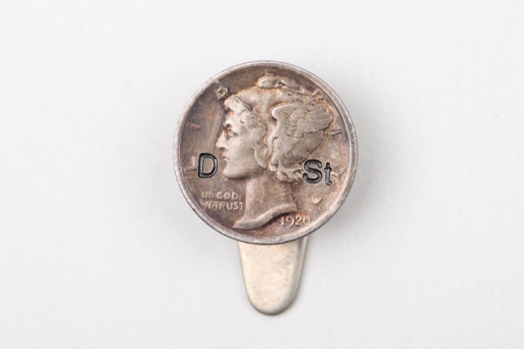 USA - 1920 Mercury Dime on clipper