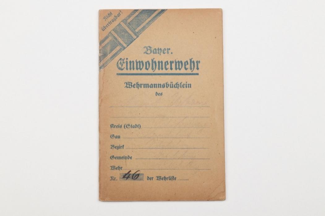 Bavaria - Civil Guard membership booklet