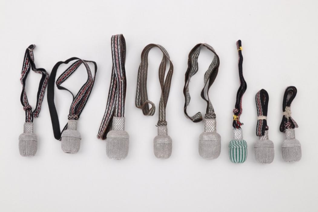 Heer/police lot of 8 sabre & sword knots