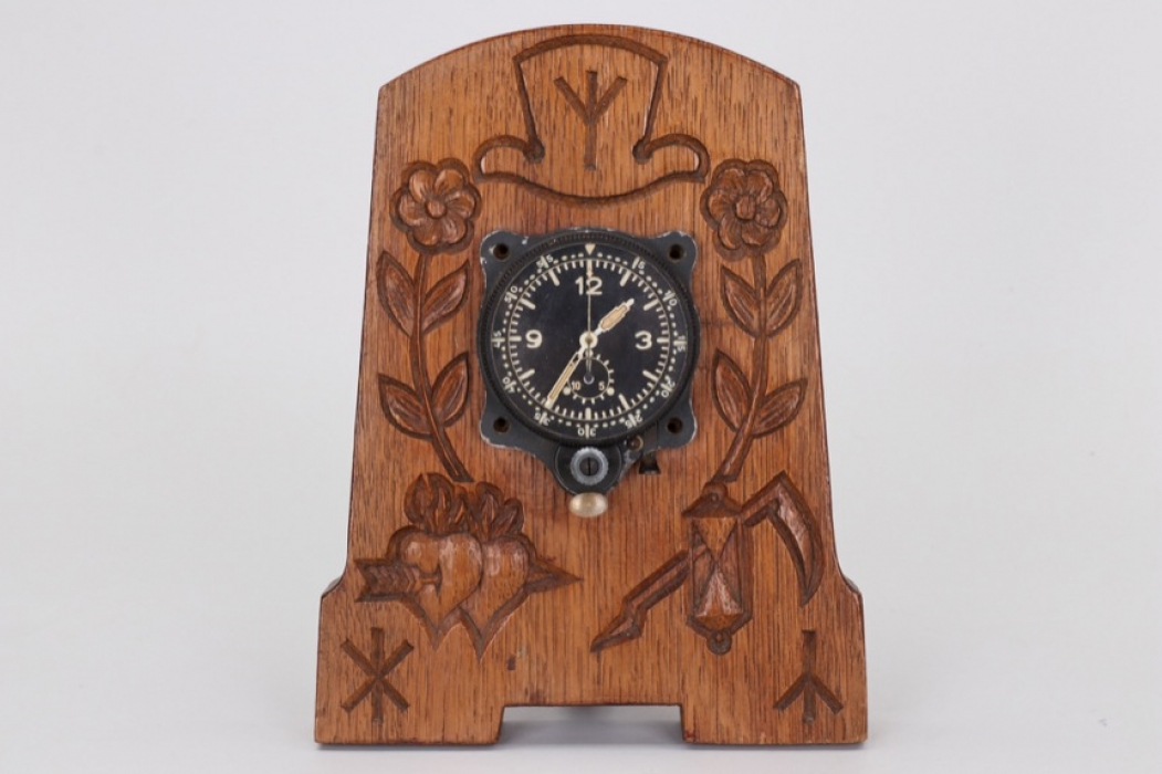 Luftwaffe chronograph cockpit clock - table decoration
