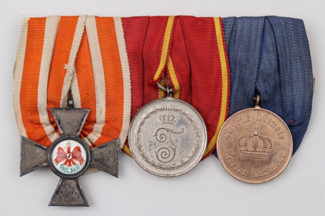 Imperial Germany - 3-place medal bar with Red Eagle Order
