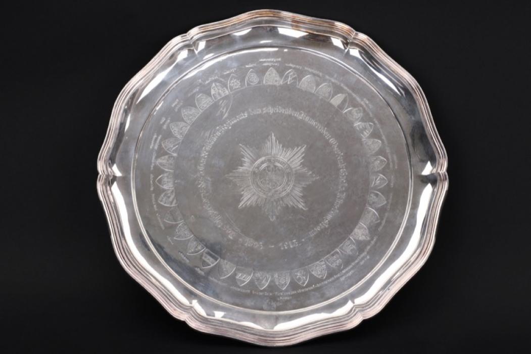 Important 3.Garde Ulanen-Regiment silver plate