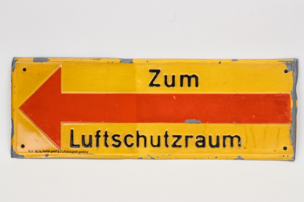 Third Reich RLB sign (signpost)