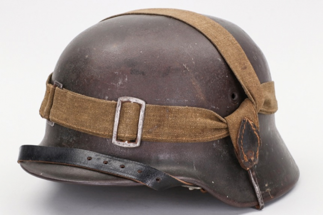 Heer M40 single decal helmet with support strap - EF66