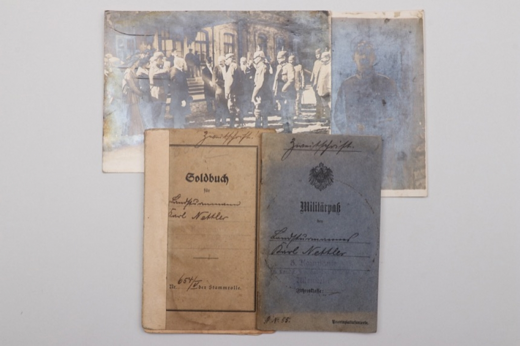 Imperial Germany -  document grouping to Karl Nettler