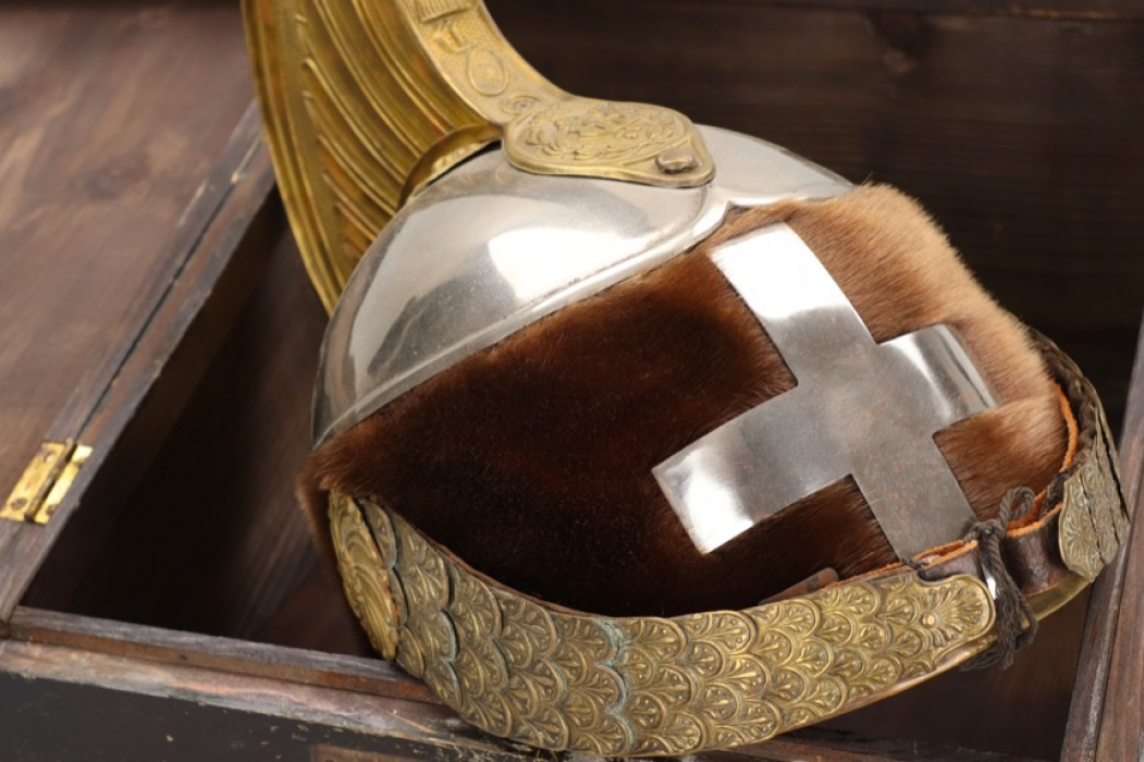 Italy - cavalry helmet with case