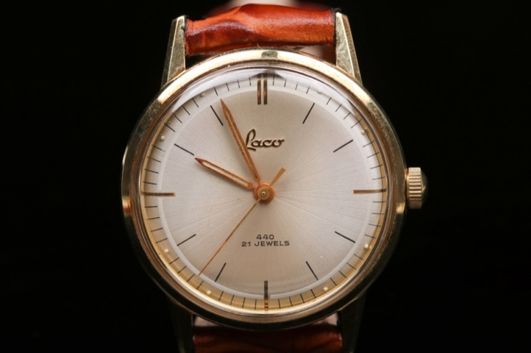 Laco - watch with 14 ct. gold case from the 50s
