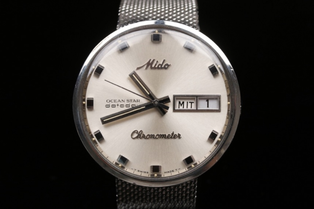 Mido - 60s/70s stainless steel watch with Milanese strap