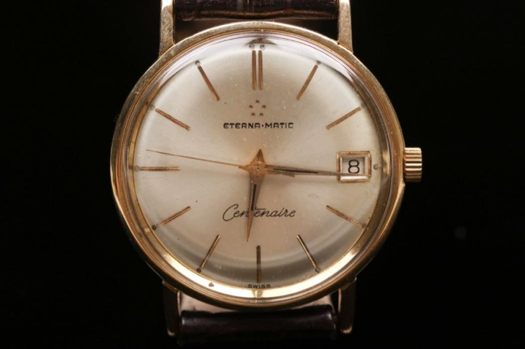 "Eterna Matic - ""Centenare"" 18 kt gold case"