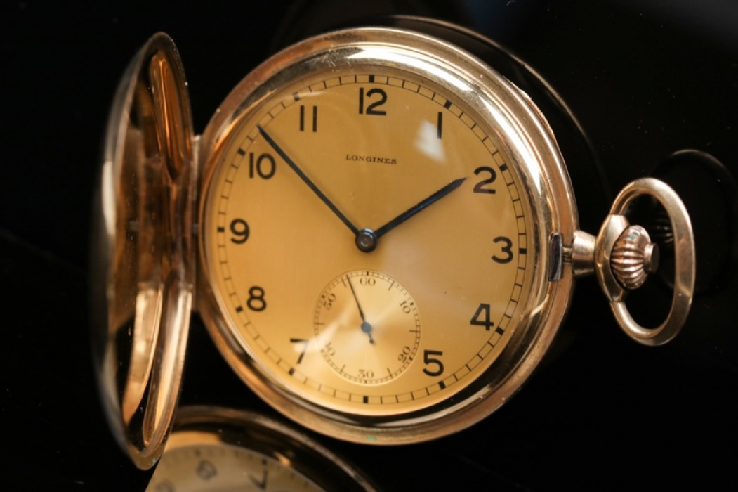 Longines - gold double pocket watch