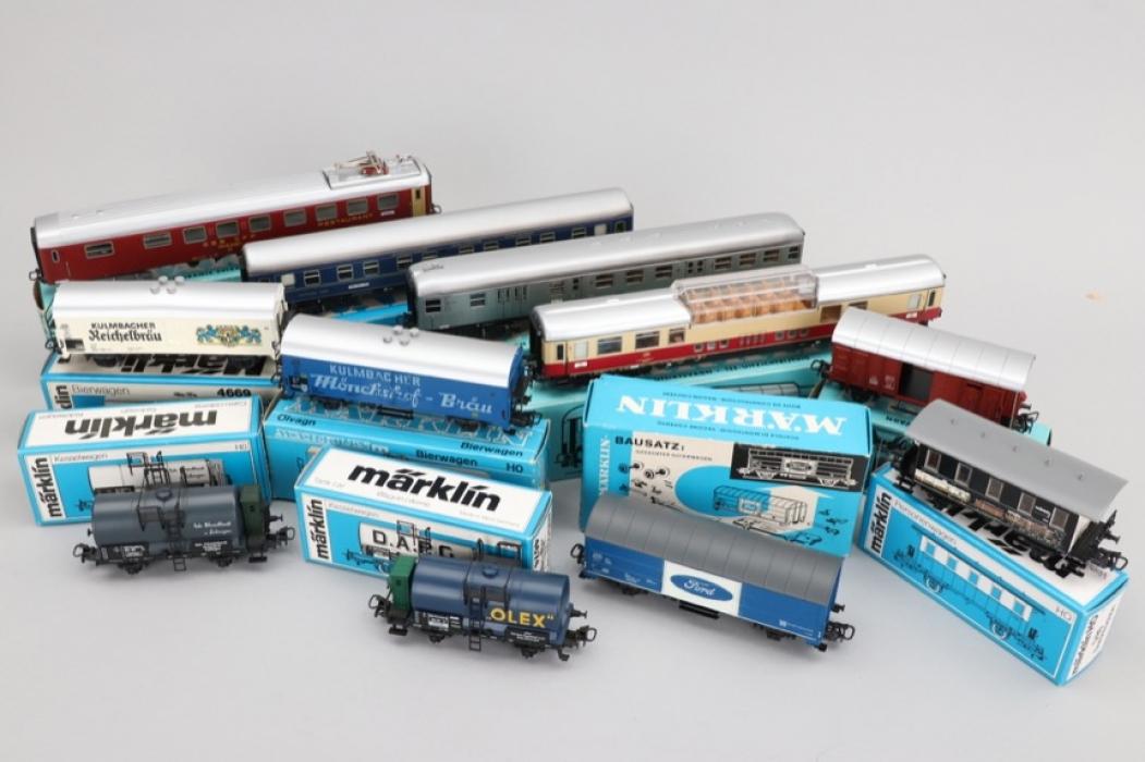 Märklin - Konvolut Eisenbahnwägen Spur H0