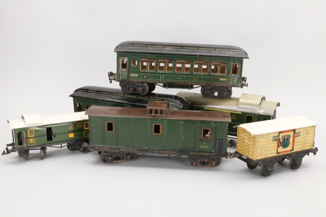 Märklin - Bing - Konvolut Eisenbahnwagons Spur 1 und Spur 0