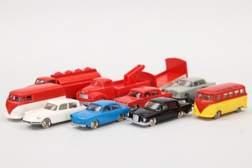 Lego - Konvolut Autos, Busse und Lieferwagen