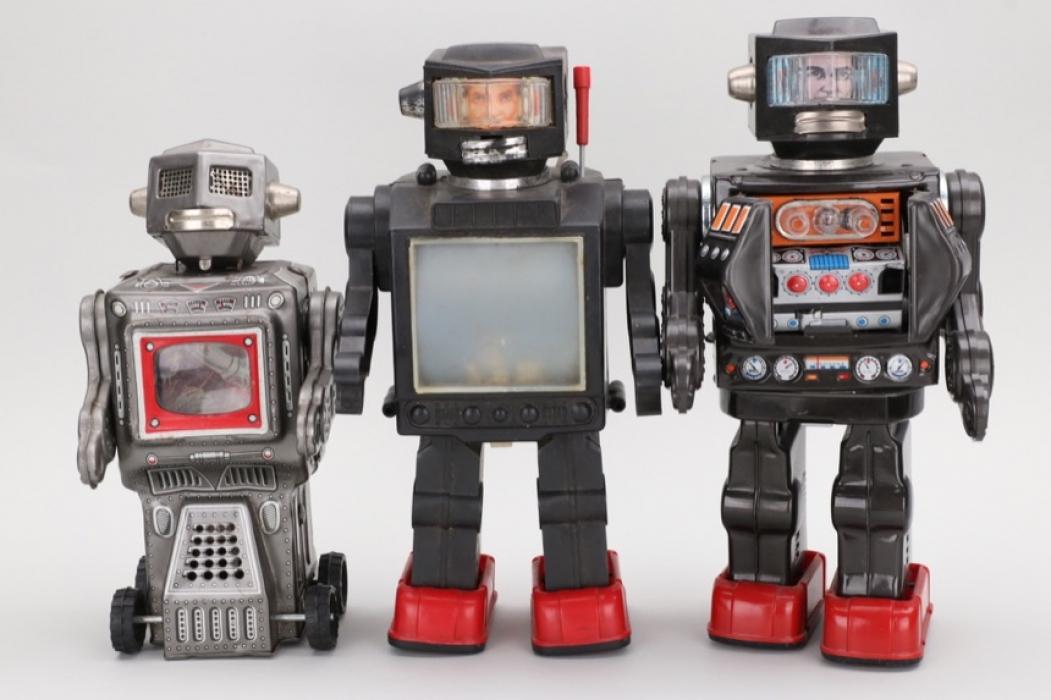 Konvolut Spielzeugroboter 70ger/80ger Jahre