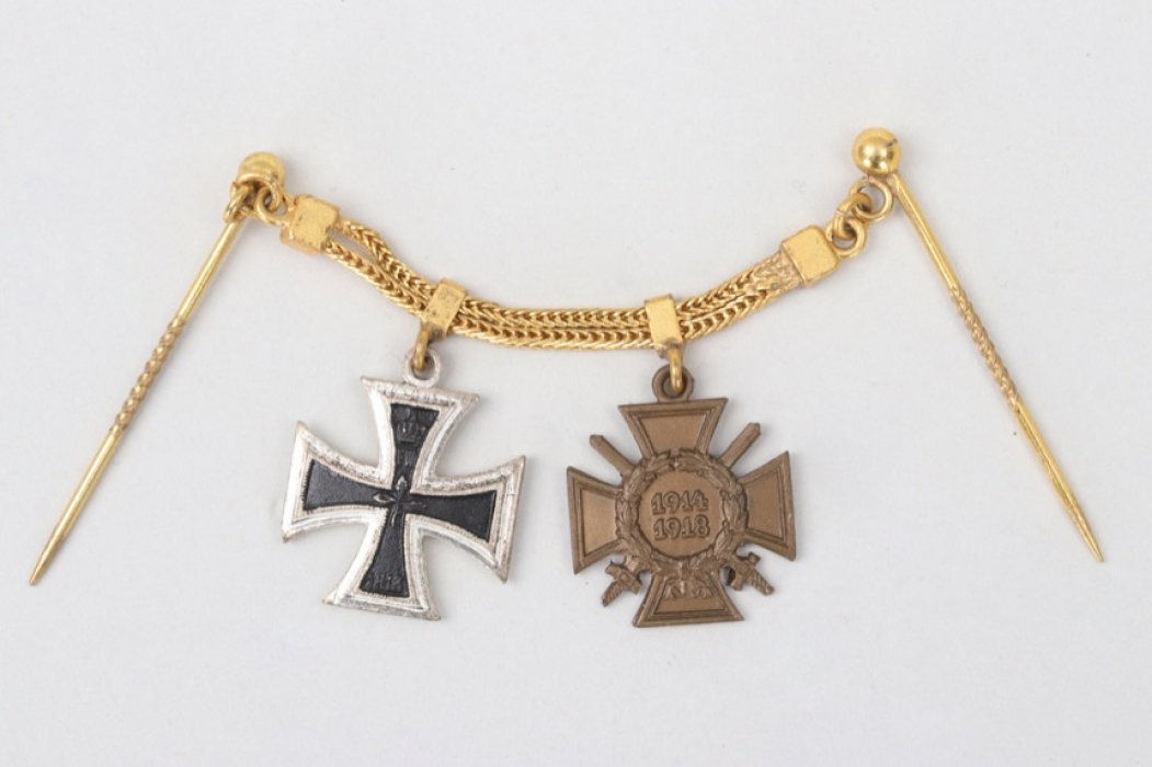 2-place miniature chain to 1914 Iron Cross recipient