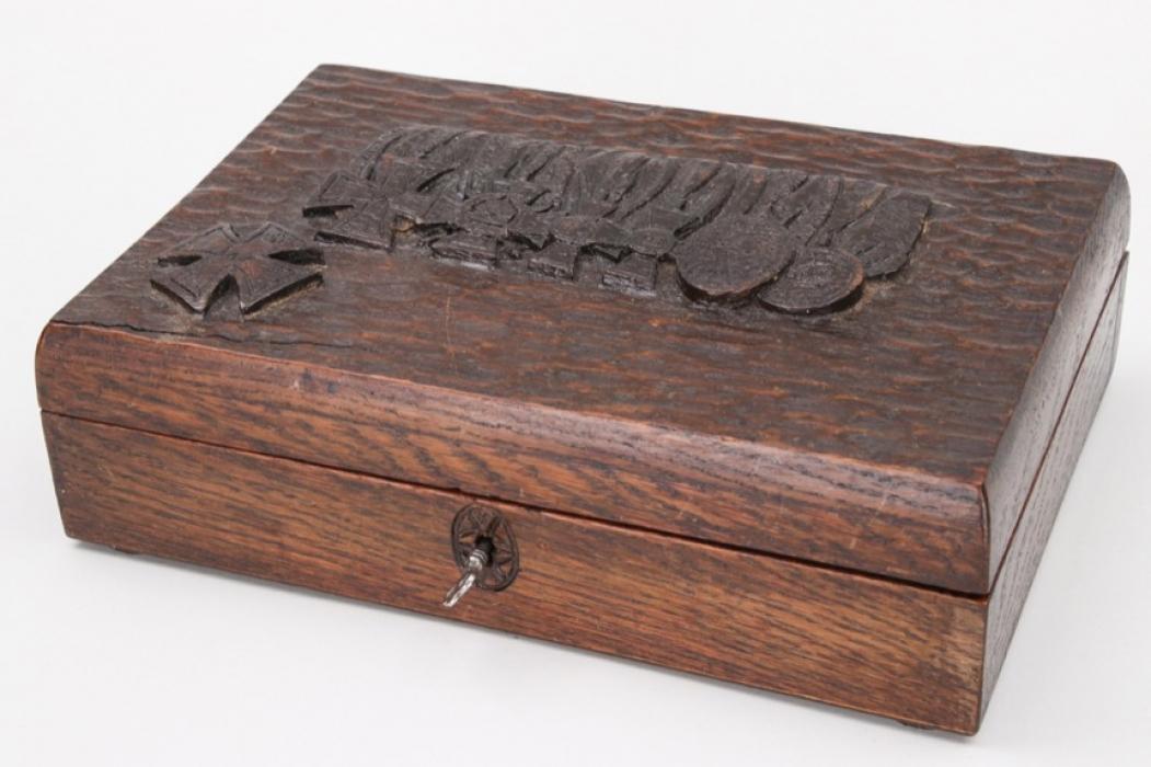 Impressive WWI carved medal presentation box
