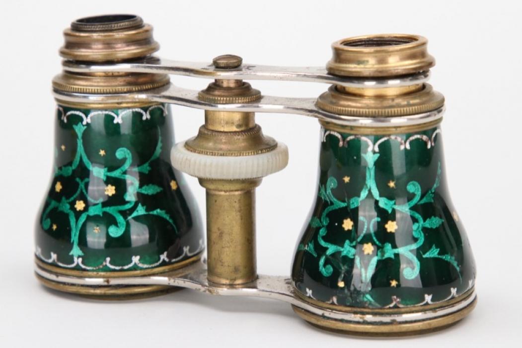 Impressive enamel opera binoculars