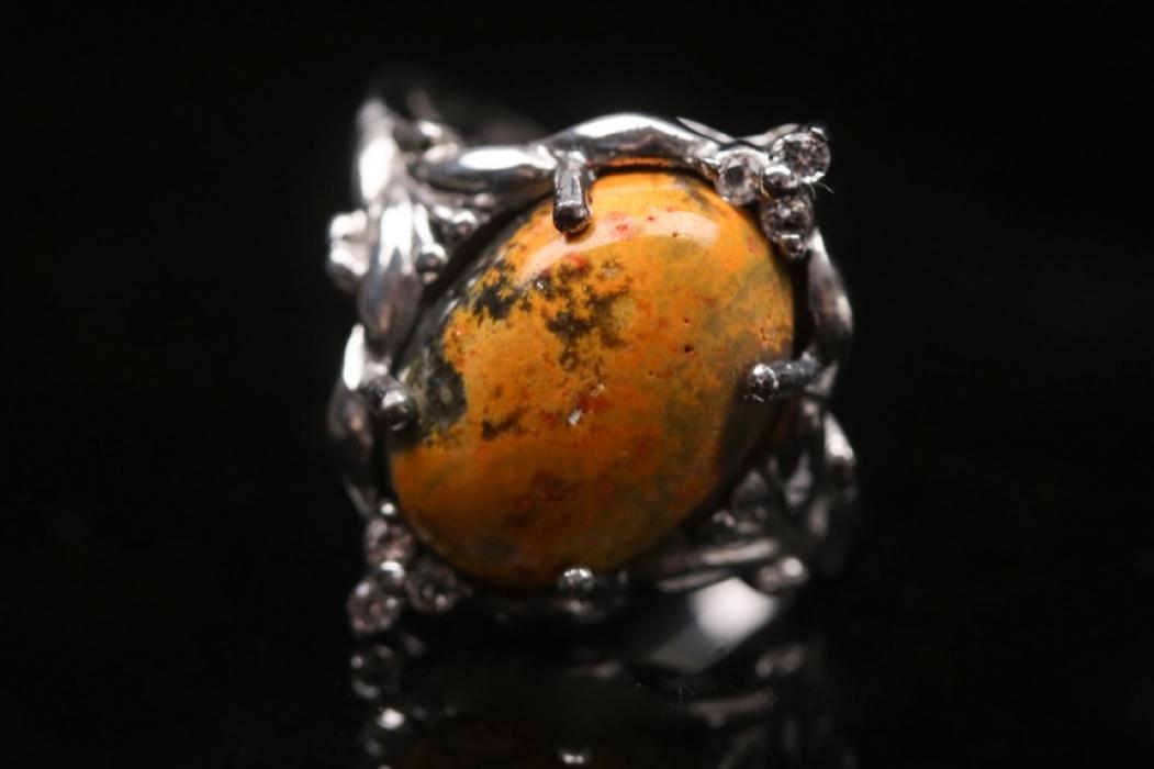 Silberring mit Hummel-Jaspis