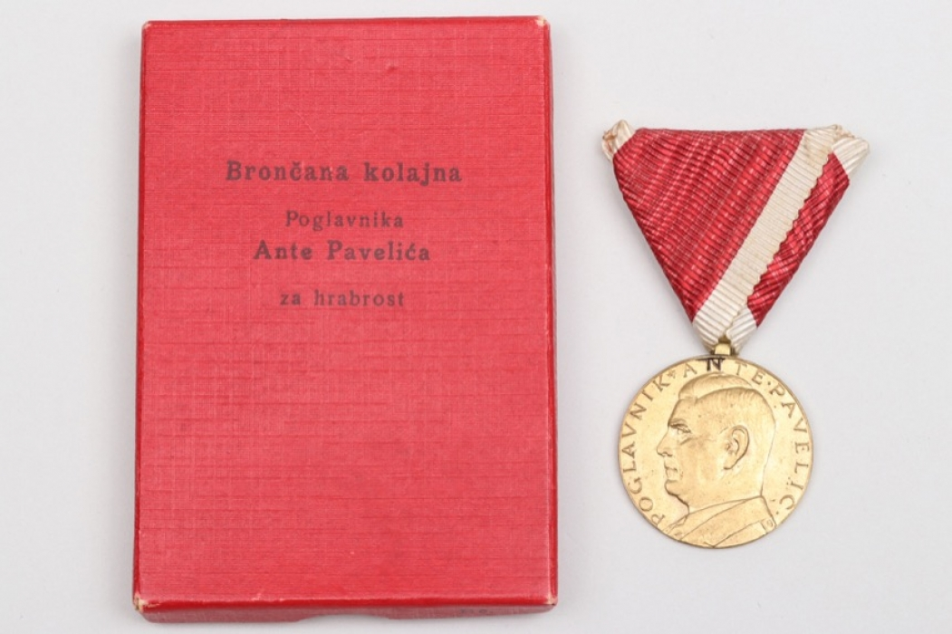 Croatia - Bravery Medal in bronze in case