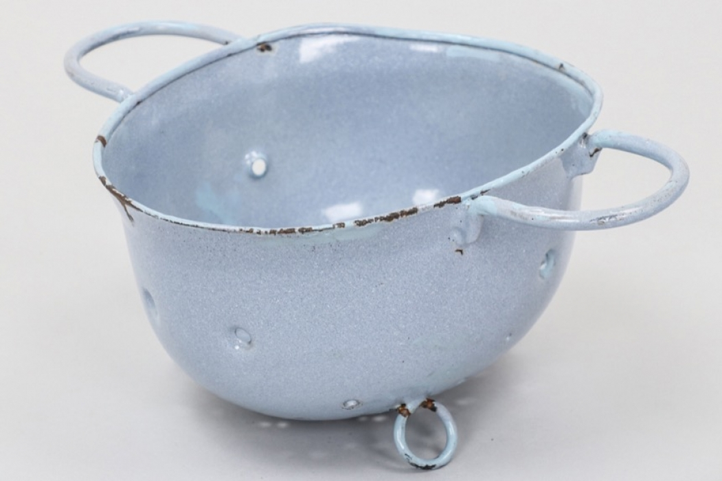 Kitchen sieve made from M38 paratrooper helmet