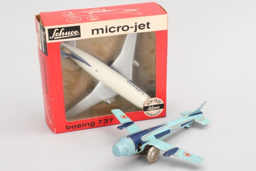 """Schuco - Modell Nr.1029 """"Microjet"""" und Flugzeug H.G.Z.600"""