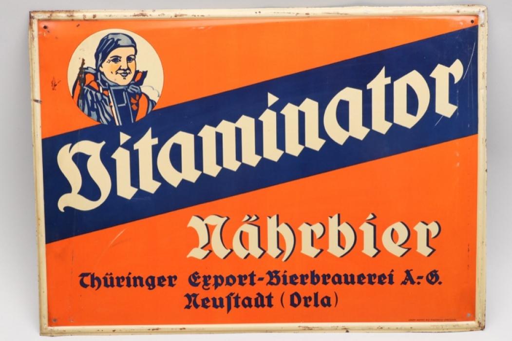 "Germany - ""Vitaminator"" advertising beer sign"