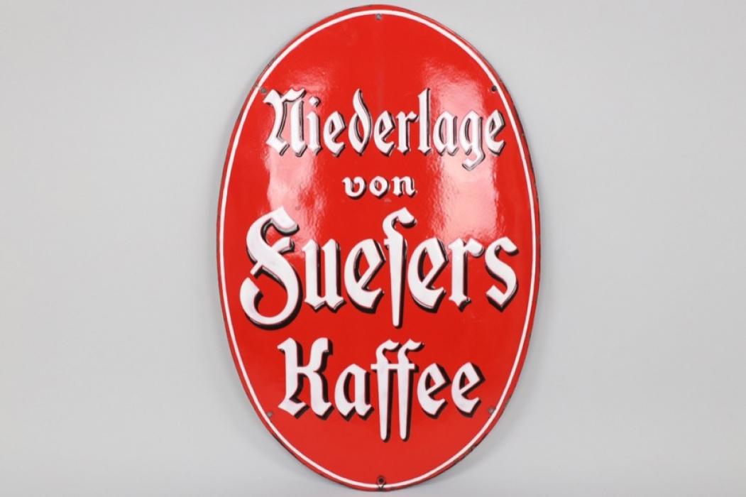 """Fuesers Kaffee"" enamel sign circa 1905"