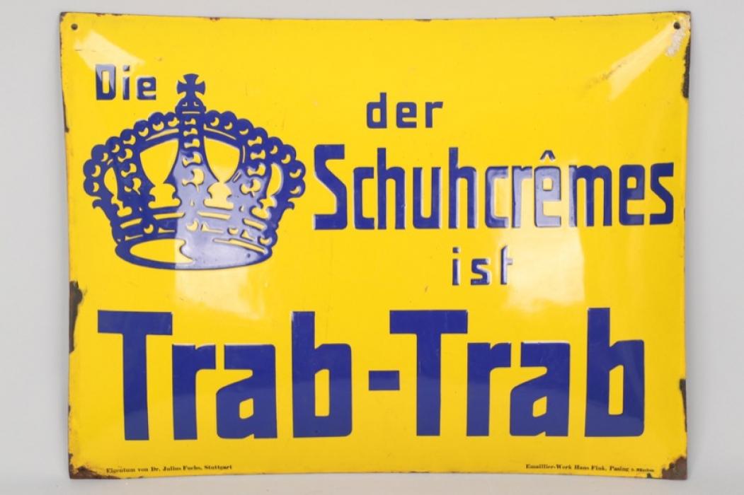 """""""Trab-Trab"""" shoe polish enamel sign"""