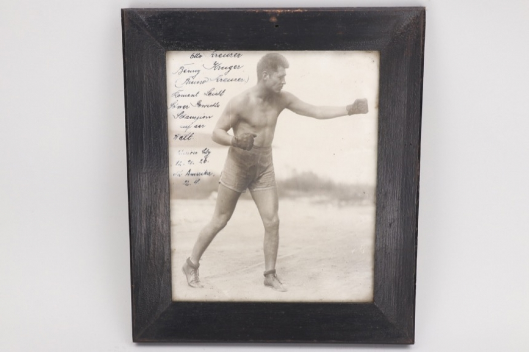 Jack Dempsey - photograph with personal dedication