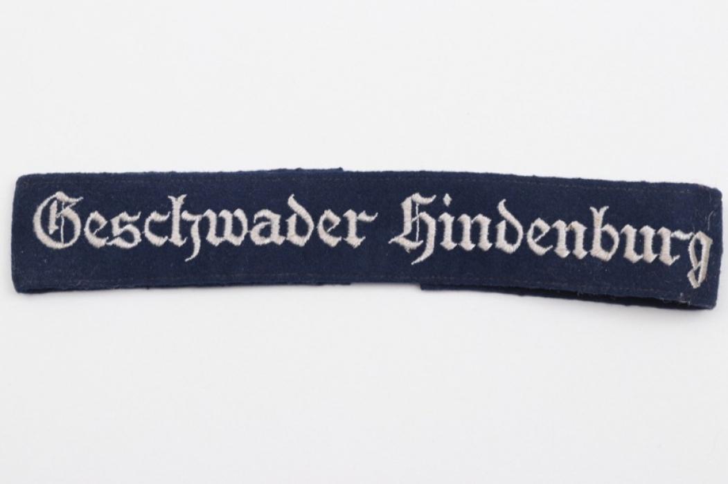 """Luftwaffe EM/NCO """"Geschwader Hindenburg"""" cuff title"""
