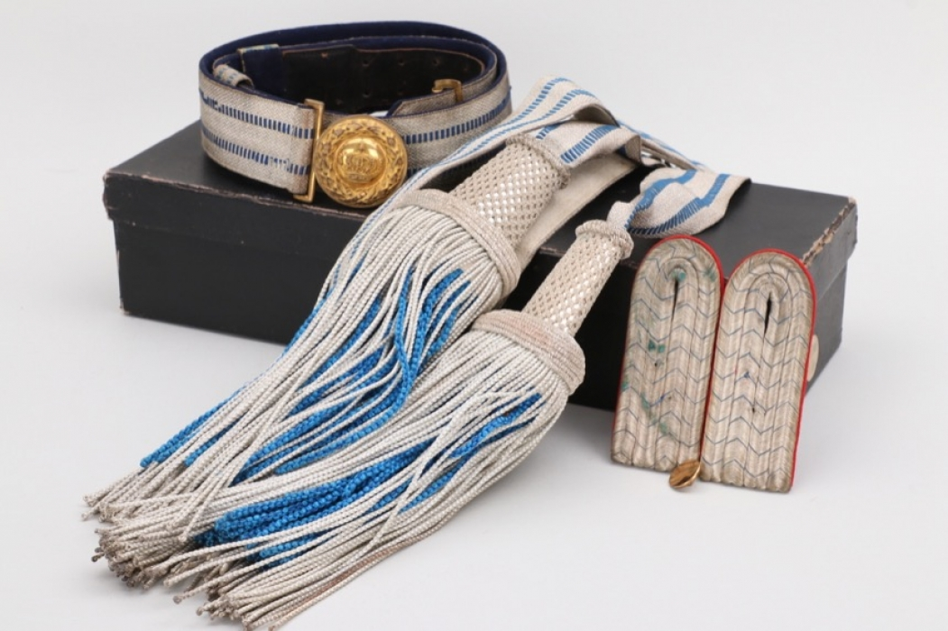 Bavaria - officer's parade belt & buckle + sash in case