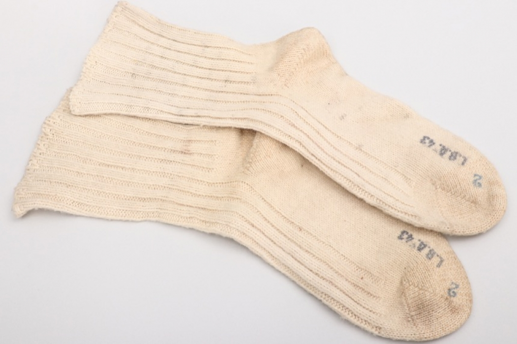 Luftwaffe pair of wool socks - LBA