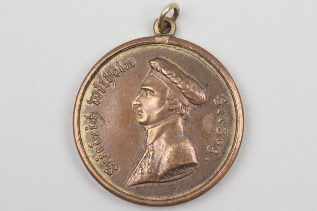 1.Jaeg.Bat. Waterloo medal 1815 to Anton Rahls