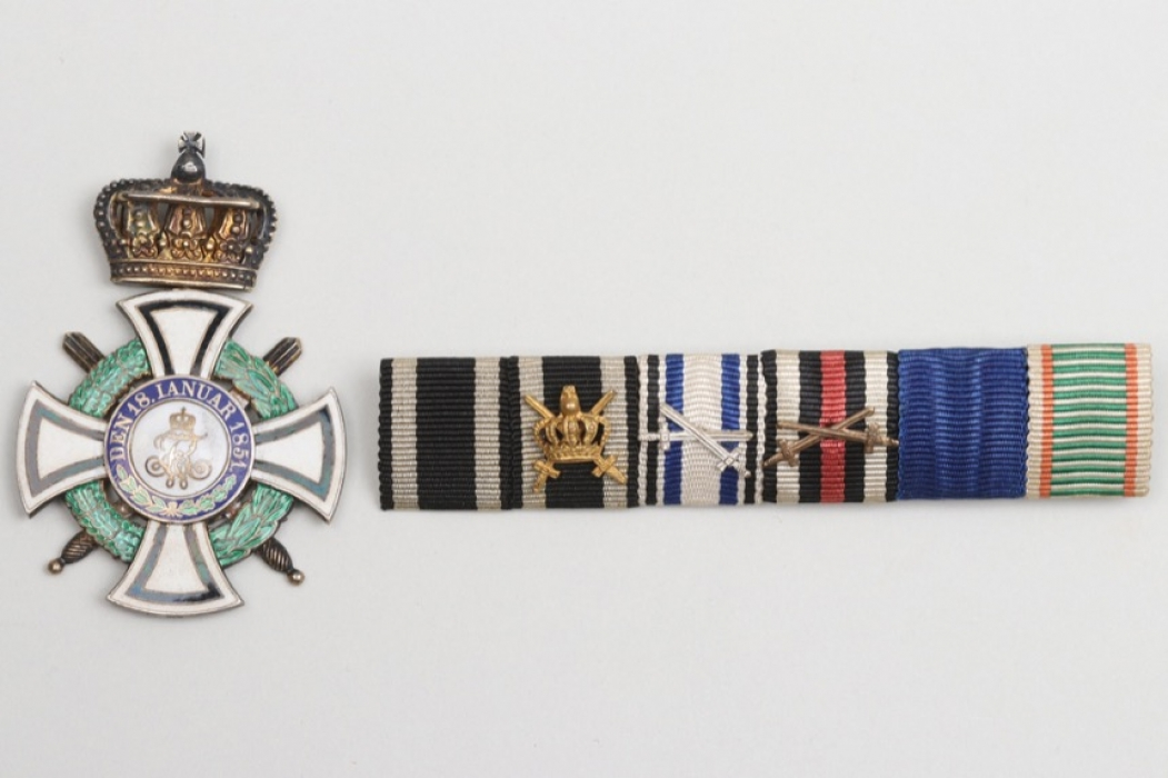 Prussia - House Order of Hohenzollern & 6-place ribbon bar