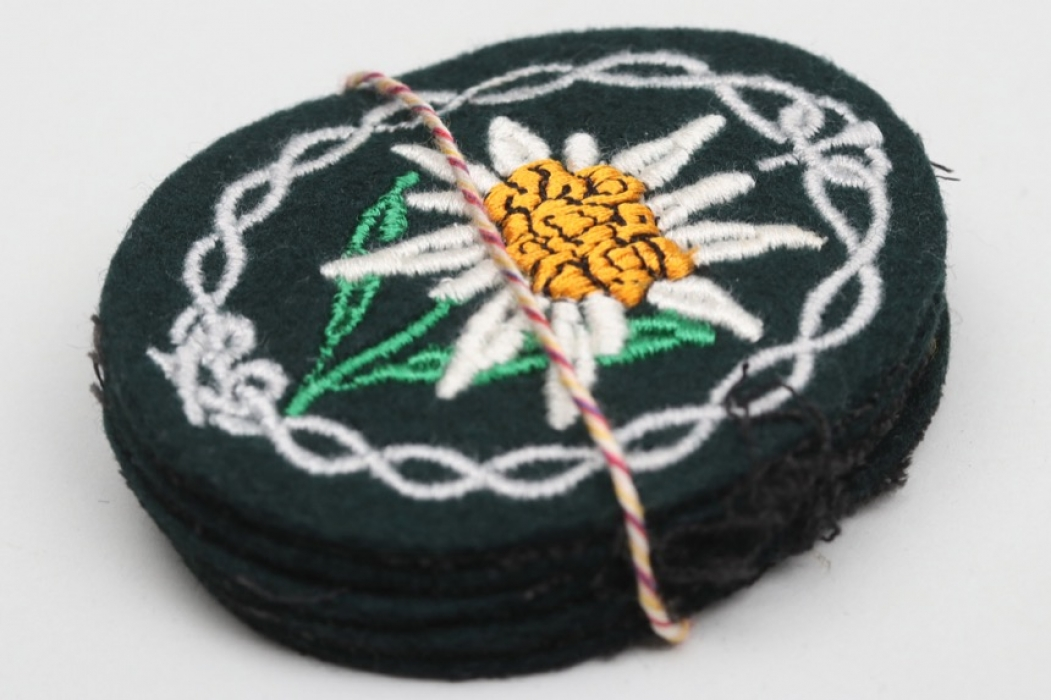 5 + Heer Gebirgsjäger Edelweiss sleeve badges