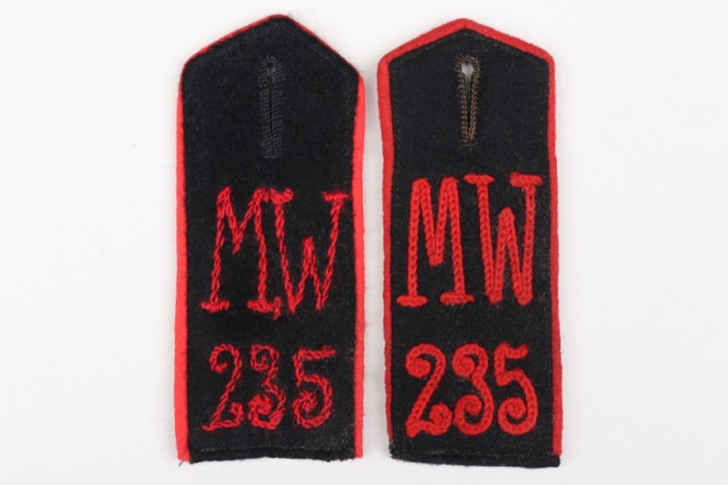 Imperial Germany - two shoulder boards Minenwerferkompanie 235