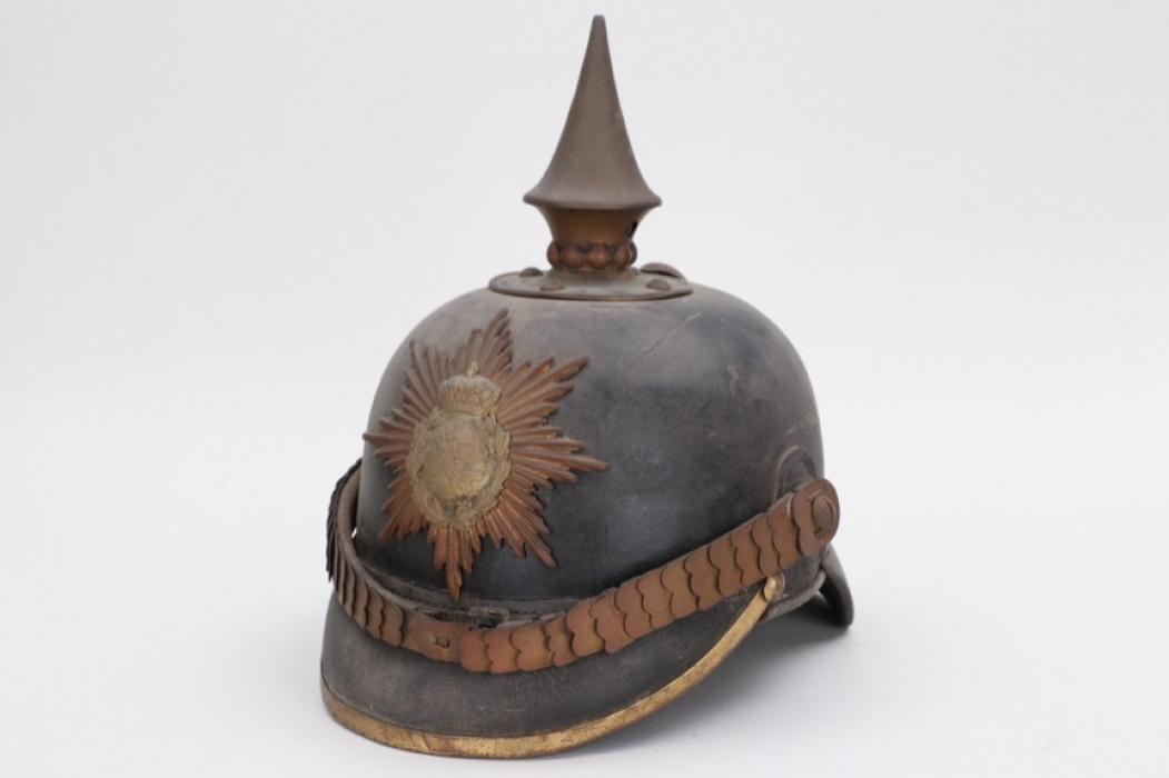 Saxony - M1871 infantry spike helmet - EM