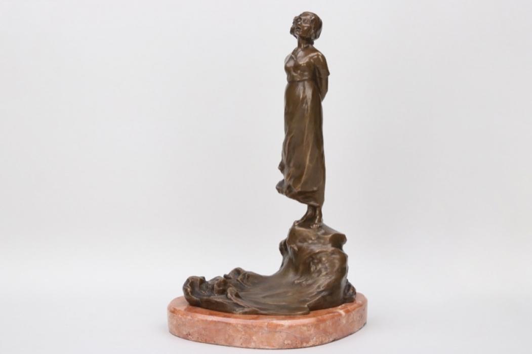 """Unger, Hella - bronze sculpture """"Mädchen auf Klippe"""""""
