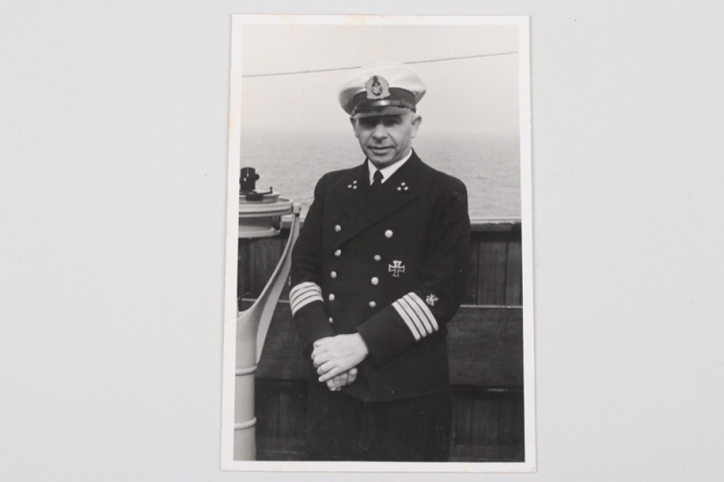 Portrait photo German navy officer