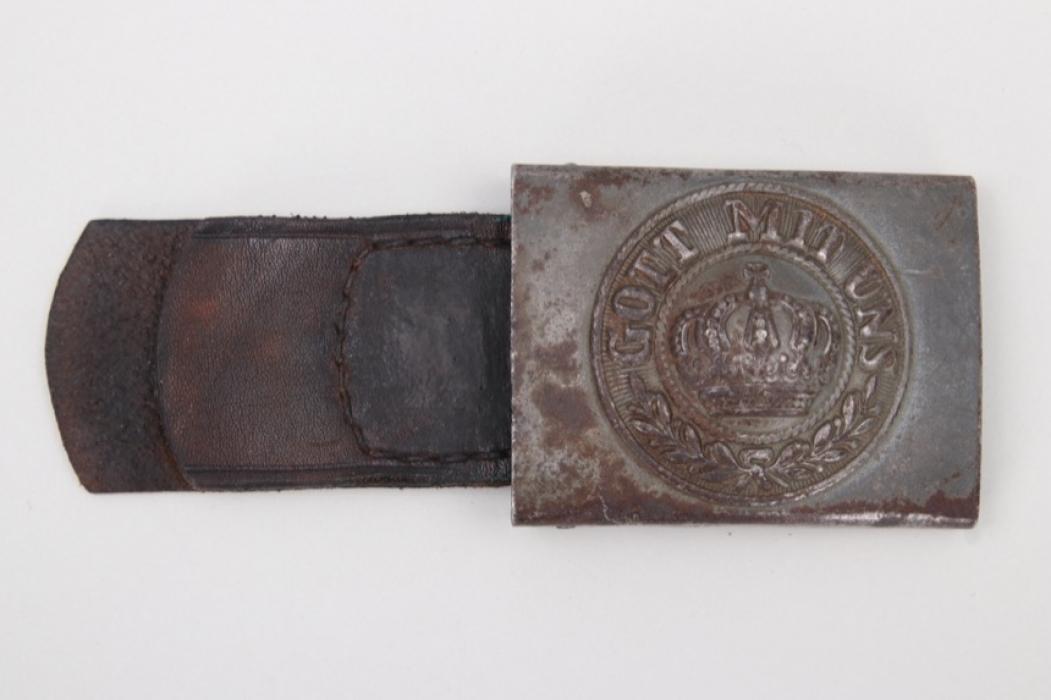"WWI Prussian EM/NCO field buckle - ""Iron Cross"" stamp!"