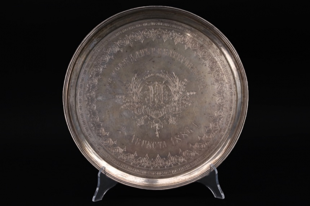 Russia - Silver tray, Moscow 1886