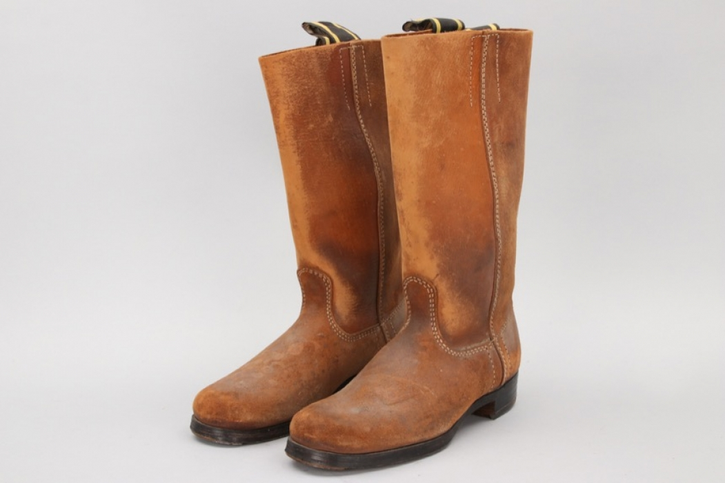 Brown German leather boots