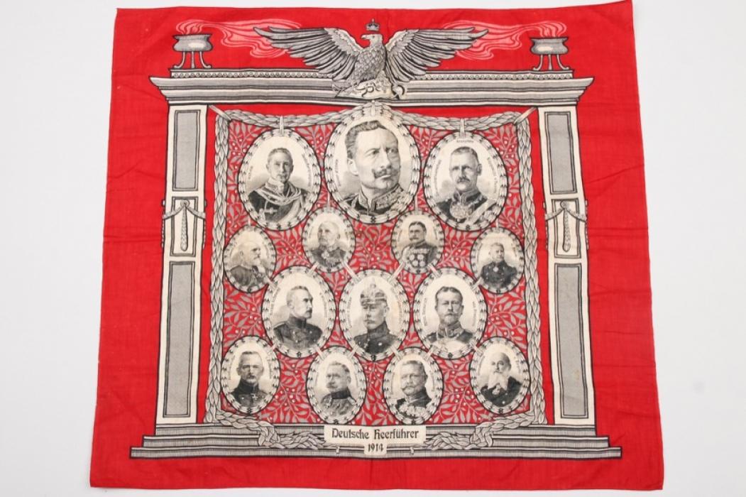 """WWI """"Deutsche Heerführer"""" patriotic handkerchief"""