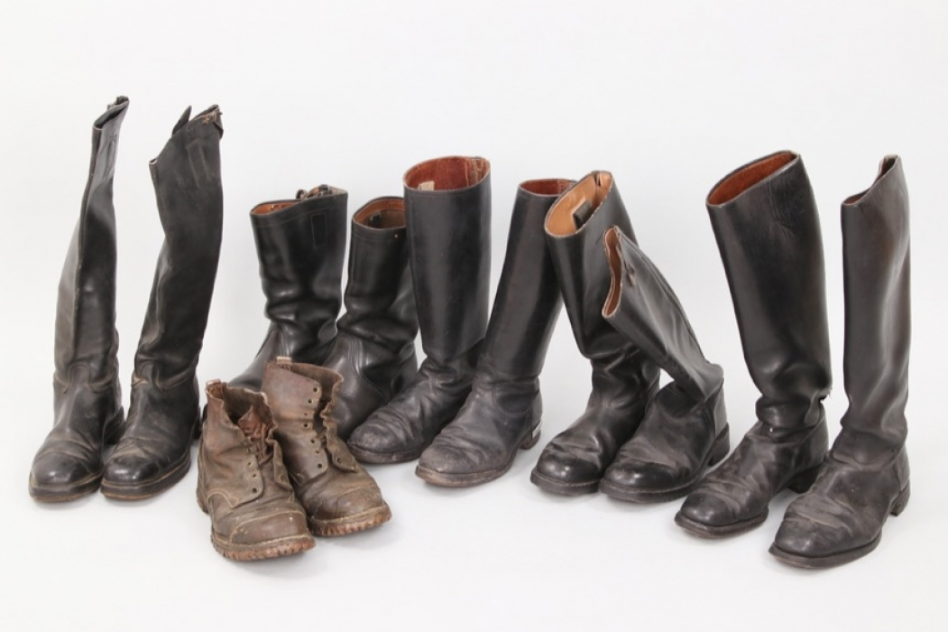 6 x Wehrmacht officers boots & mountain boots
