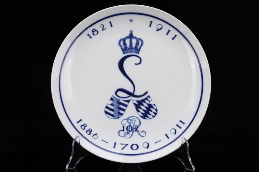 Imperial Infanterie-Regiment 102 porcelain plate - Meissen