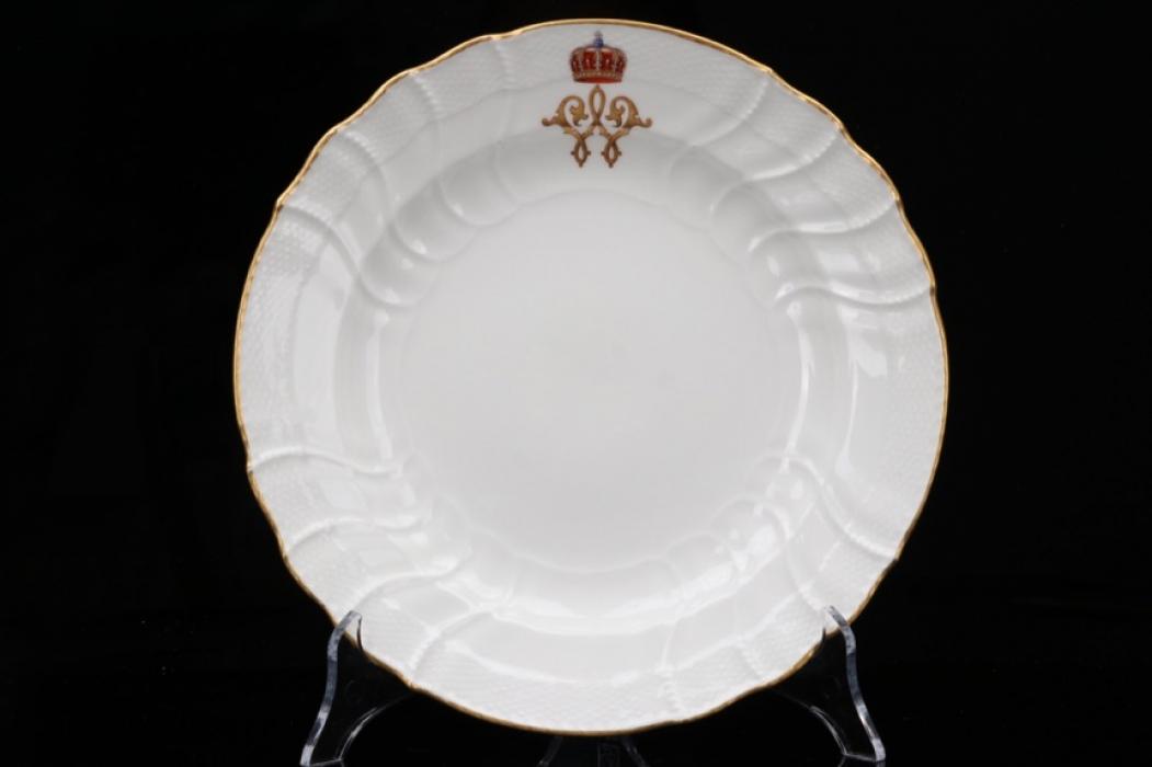 Imperial Kaiser Wilhelm porcelain soup plate