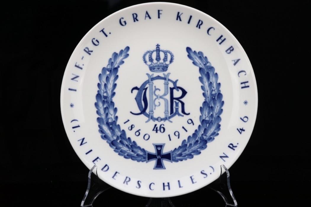 Imperial  Inf.-Rgt. Graf Kirchbach Nr. 46 porcelain plate - MEISSEN