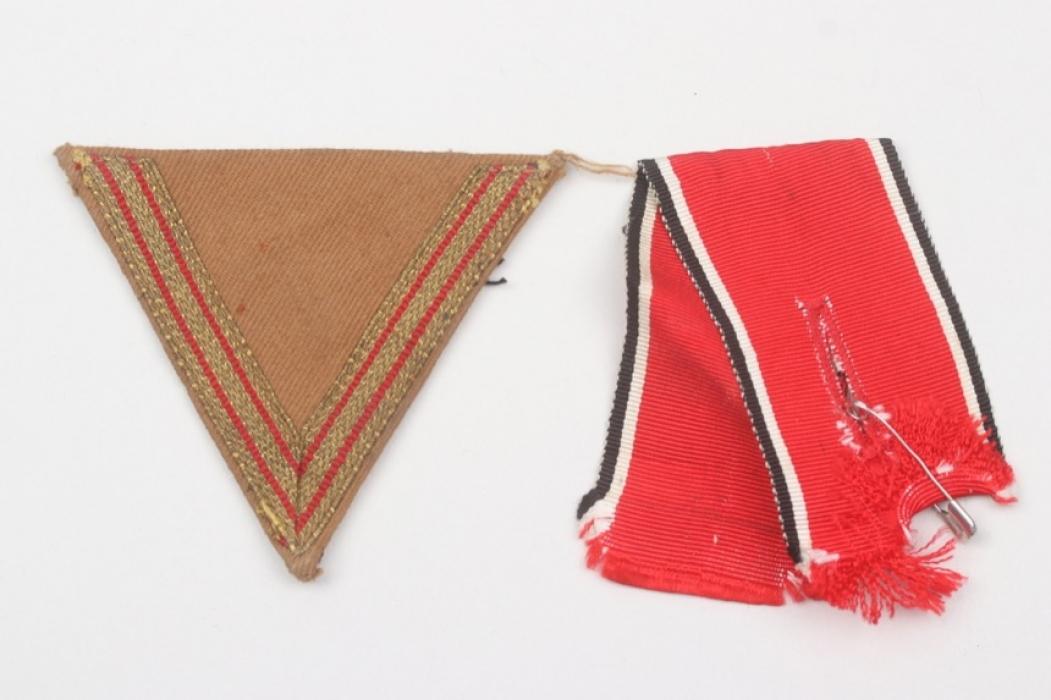 """NSDAP Blood Order ribbon & """"Alter Kämpfer"""" chevron"""