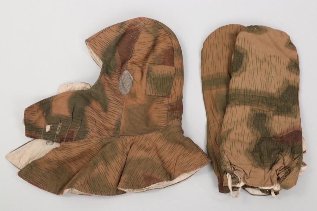 Wehrmacht tan & water winter hood & mittens