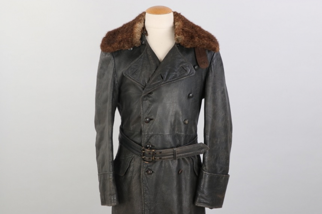 Wehrmacht/Waffen-SS officer's leather winter coat
